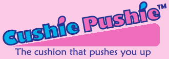 Cushie Pushie Breast Support Pillow Logo